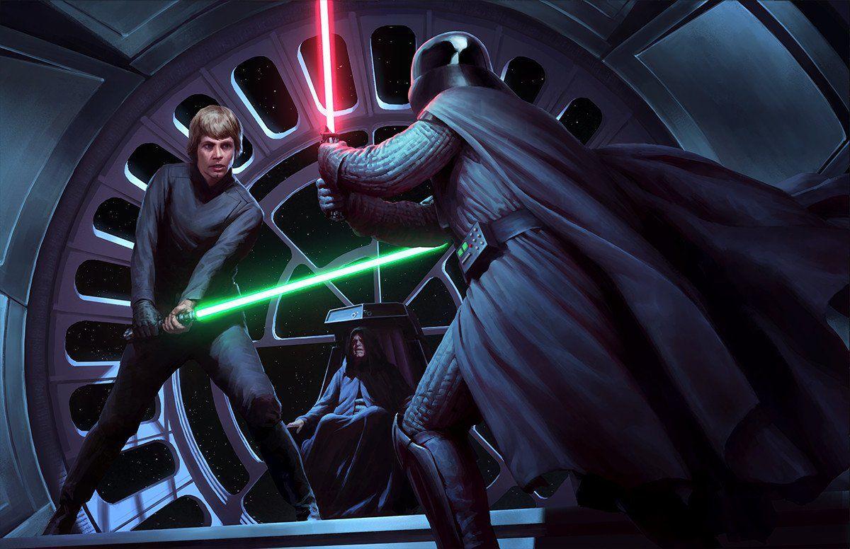 Resultado de imagen de luke skywalker vs darth vader