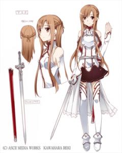 asuna character design 240x300 - ASUNA (SWORD ART ONLINE) OPINIÓN DE ZELL84